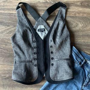 Ladies BEBE Black & Grey SEXY Must Have Vest S